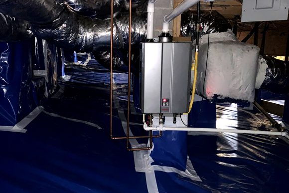 HVAC In A Crawl Space Beneath A Home